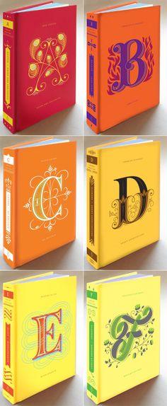 Penguin Drop Cap Series collaboration between illustrator Jessica Hische and Paul Buckley // http://www.augustempress.com/