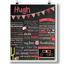 Woo Pig Sooie First Birthday Tailgating Poster.   Perfect poster for a Arkansas Razorbacks Themed Birthday Party.  Go Hogs!