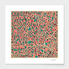 """""""Los Angeles"""" - Numbered Art Print by Jazzberry Blue on Curioos"""