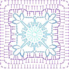 Lilac chart - LoveCrochet Summer CAL