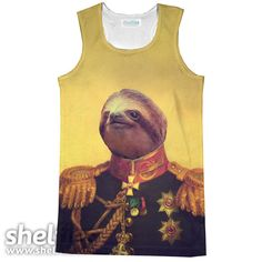 Lil' General Sloth Racerback Tank Top – Shelfies - Outrageous Clothing