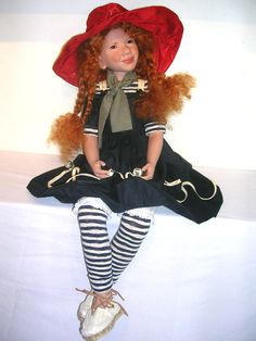 Zwergnase Dolls and Bears by Nicole Marschollek...Lotte-Louise  is a sitting doll