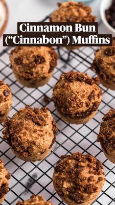 Vegan Baking Recipes, Muffin Recipes, Vegan Desserts, Whole Food Recipes, Healthy Recipes, Vegan Muffins, Mini Muffins, Sweet Buns, Mini Muffin Pan