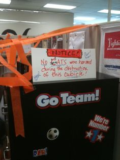 Cubicle prank legal disclaimer Lol