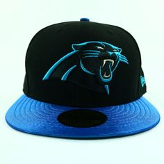 Carolina Panthers Unisex Hat New Era Black Blue Baseball Cap MLB Size 7 3/4 Fit #NewEra #CarolinaPanthers