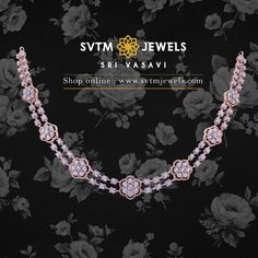 Carat Rose Gold necklace studded with round brilliant diamonds 💎 . Insured shipping around the world 🌎 . Do message or comment below… Diamond Necklace Simple, Diamond Jewelry, Gold Necklace, Gold Ring Designs, Chocker, Rose Gold, Diy Kid Jewelry, Diamond Jewellery, Gold Pendant Necklace