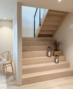 Home Stairs Design, Interior Stairs, Home Design Decor, Home Interior Design, Home Decor, Design Homes, Loft Design, Design Interiors, Wooden Staircases