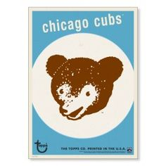 Chicago Cubs Throwback Logo Print