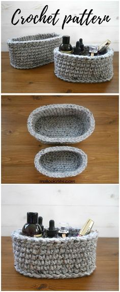 I show you some of the best free crochet patterns that will really inspire you to try them out with your own hands!crochet oval basket pattern