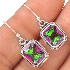 Rainbow Topaz 925 Sterling Silver Earring Jewelry EE21173 | eBay