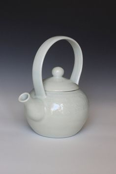 wheel thrown porcelain ceramic teapot