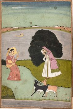 Todi Ragini.   Indian, Pahari, second half of 17th century.  Object Place: Northern Deccan or Punjab Plains, India.   http://mfas3.s3.amazonaws.com/objects/SC194149.jpg