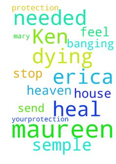 Help me get over Erica dying and heal Ken where it's needed -  Please help me Maureen semple to get over Erica dying and heal Ken where its needed but please please Father God send yourprotection to me Maureen semple And stop Mary banging about the house please Father heaven let me Maureen feel your protection in Jesus name amen  Posted at: https://prayerrequest.com/t/xR2 #pray #prayer #request #prayerrequest