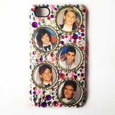 One Direction Pink, Purple & Blue 1D iPhone 4 4S Case Cover