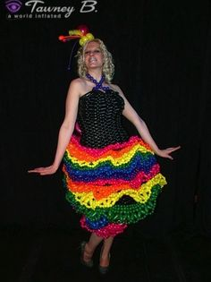 Balloon dress created for the Las Vegas Wonderground. The Balloon dresses were created by Tawney B. http://worldinflated.com