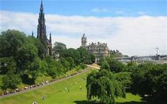 Princess Street Gardens, Edinburgh Scotland