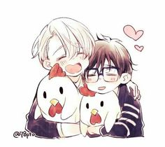 Find images and videos about anime, manga and yuri on ice on We Heart It - the app to get lost in what you love. Manga Anime, Anime In, Anime Kawaii, Anime Chibi, Katsuki Yuri, Yuuri Katsuki, Love On Ice, ユーリ!!! On Ice, Yuri Plisetsky