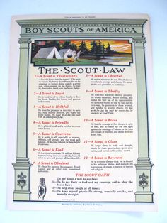 Vintage Poster The Boy Scouts Of America. The Boy Scouts Of America by #vintagebeachkids.