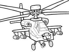 Resultado de imagen para dibujo de helicoptero militar