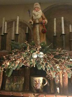 Primitive Country Christmas, Christmas Tree, Holiday Decor, Home Decor, Teal Christmas Tree, Decoration Home, Room Decor, Xmas Trees, Christmas Trees