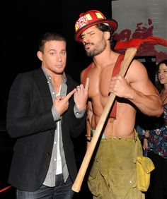 Who else wants to see Joe Manganiello in that firefighter costume, huh? Those muscles makes dribble and go crazy every [normal] woman!!!