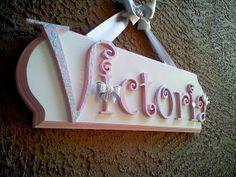 MEDIUM Children's Custom Name Plaque/ Kids Name by SplendidlySassy, $55.00