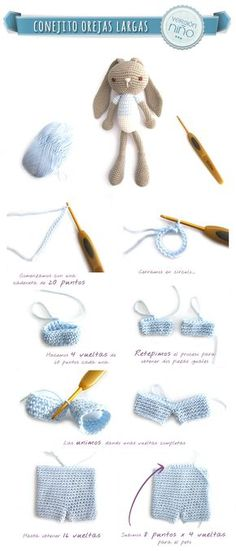 Amigurumi Rabbit Boy - Tutorial (Spanish) ❥ 4U // hf