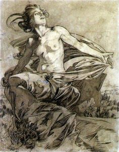 mlchidini: Alphonse Mucha, 'Soleil' , inchiostro su carta , 1899