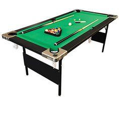 Billiard Pool Table 6u0027 Feet Portable Snooker Accessories Included Game  COLORADO   Foosball And Pool