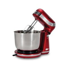 Dash Stand Mixer (Electric Mixer for Everyday Use): 6 Speed Stand Mixer with 3 qt Stainless Steel Mixing Bowl, Dough Hooks & Mixer Beaters for Dressings, Frosting, Meringues & More - Red - Kitchen and Home Products Library Small Kitchen Appliances, Kitchen Aid Mixer, Kitchen Countertops, Baking Appliances, Retro Appliances, Bowl Turning, Electric Mixer, Mixers, Retro Design