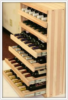 We Make It Happen With Vintner Wine Cradles - We pretty much know popular the Vintner Series is thanks to its flexible configurations and the variety of bottle storage options it offers. But who says (Liquor Bottle Storage) Wine Rack Design, Wine Cellar Design, Wine Storage, Kitchen Storage, Storage Drawers, Kitchen Drawers, Kitchen Wine Racks, Kitchen Pantry, Wine Bottle Storage Ideas