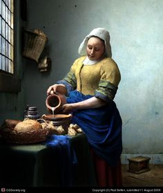 Title: After 'The Milkmaid' |  Artist: Rod Seffen |  Country: United Kingdom |  Software: Lightwave 3D, Photoshop