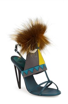 Make the shoes a statement piece | Fendi sandals.