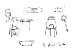 Faro mini fireplace by Rui Pereira & Ryosuke Fukusada - simple sketches are the best for design