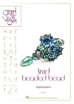 Beading tutorial / pattern Arvid beaded bead Beading instruction in PDF – for personal use only by beadsbyvezsuzsi on Etsy