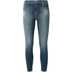 J Brand Skinny Jeans (255 CHF) ❤ liked on Polyvore featuring jeans, blue, j brand jeans, skinny jeans, stretch denim jeans, j brand and denim skinny jeans