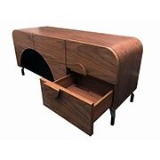 Moon Console in American Walnut.  $1299 by Sokol Designer Furniture