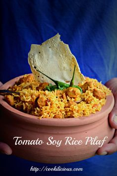 Tomato Soy Pilaf Ric