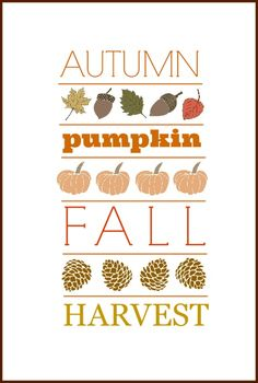Fall Subway Art | Free Printable! | From On Sutton Place