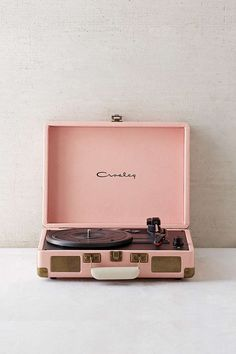 Crosley X UO Cruiser Briefcase Portable Vinyl Record Player - Urban Outfitters // color: nude