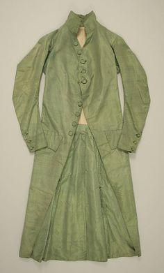 Coat 1790, Italian, Made of silk