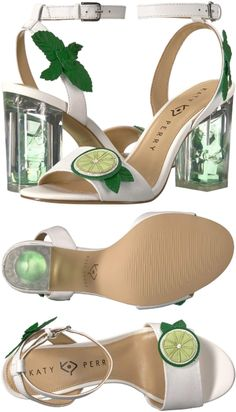 The Katy Perry Rita city sandal will sweep you away to paradise and beyond! Halo ankle strap with Katy Perry, Ankle Strap, Paradise, Lime, Sandals, Womens Fashion, Fun, Leather, Limes