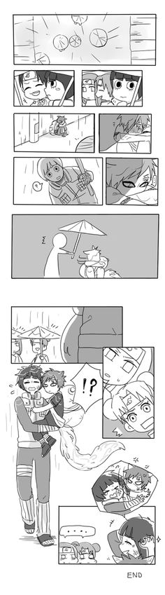 I don't ship it but this is cute, Lee taking care of a younger Gaara