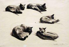 Edward Hopper - Cat Studies