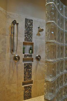 douche brique de verre.JPG | salle de bain enfants | Pinterest ...
