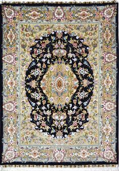 Khatibi Silk Persian Rug You pay: $5,500.00 Retail Price: $10,500.00 You Save: 48% ($5,000.00) Item#: EK-104 Category: Small(3x5-5x8) Persian Rugs Design: Center Medallion Floral Size: 154 x 215 (cm) 5' 0 x 7' 0 (ft) Origin: Persian, Tabriz Foundation: Silk Material: Wool & Silk Weave: 100% Hand Woven Age: Brand New KPSI: 550