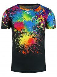 Crew Neck Colorful Splatter Paint Print T-Shirt Best Chinos, T Shirt Vest, High Quality T Shirts, Men Online, Shorts With Pockets, Tshirts Online, Mens Tees, Cool T Shirts, Printer
