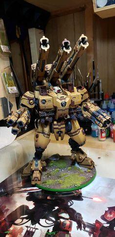 Imgur Post - Imgur Tau Warhammer, Warhammer Armies, Tau Battlesuit, War In Space, Tau Army, Tau Empire, Tyranids, Warhammer Models, War Hammer