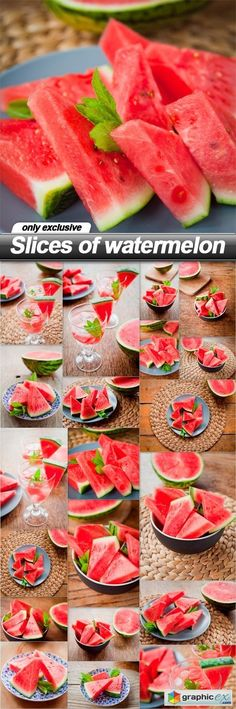Slices of watermelon  20 UHQ JPEG  stock images