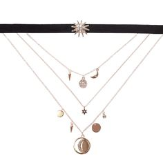 ROSE GOLD CELESTIAL CHOKER Lovisa Jewellery, Jewelry Accessories, Chokers, Gold Necklace, Bling, Rose Gold, Celestial, Diamond, Silver